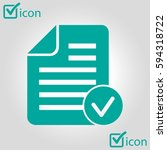 document  with ok  icon. add...   Shutterstock .eps vector #594318722