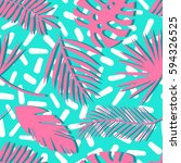 seamless tropical vector... | Shutterstock .eps vector #594326525