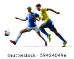 soccer players in action on the ... | Shutterstock . vector #594340496