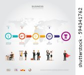 business infographic business... | Shutterstock .eps vector #594341762