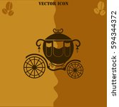 carriage vector  icon. coffee... | Shutterstock .eps vector #594344372