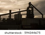 south gare  united kingdom  ... | Shutterstock . vector #594344675