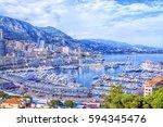 cote d'azur  monte carlo.... | Shutterstock . vector #594345476