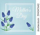 mothers day. spring postcard... | Shutterstock .eps vector #594347642