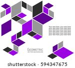 geometric abstract background... | Shutterstock .eps vector #594347675