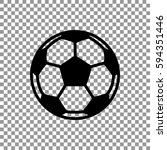 soccer ball icon flat. | Shutterstock .eps vector #594351446