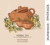 Rooibos Tea In Teapot And Tea...