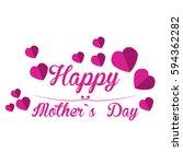 happy mother day graphic design ...   Shutterstock .eps vector #594362282