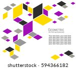 geometric abstract background... | Shutterstock .eps vector #594366182