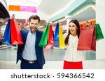 it's shopping and fun  time.... | Shutterstock . vector #594366542