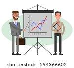 businessmen giving a... | Shutterstock .eps vector #594366602