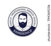 barbershop vector logo   Shutterstock .eps vector #594369236