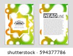 abstract vector layout... | Shutterstock .eps vector #594377786