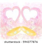 golden wedding rings  ... | Shutterstock . vector #594377876