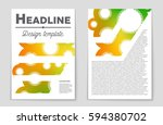 abstract vector layout... | Shutterstock .eps vector #594380702