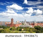 aerial view of central berlin... | Shutterstock . vector #59438671