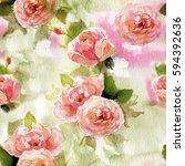 seamless watercolor pattern...   Shutterstock . vector #594392636