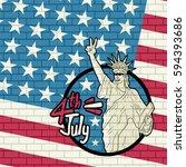 american liberty illustration | Shutterstock .eps vector #594393686
