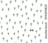 bike in the forest. seamless... | Shutterstock .eps vector #594395825