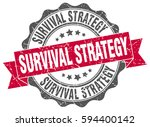survival strategy. stamp.... | Shutterstock .eps vector #594400142