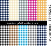 seamless classic check pattern... | Shutterstock .eps vector #594402362