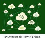 cloud computing concept | Shutterstock .eps vector #594417086