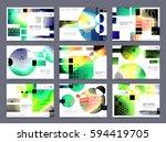 colorful geometric brochure... | Shutterstock .eps vector #594419705