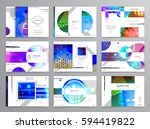 colorful geometric brochure... | Shutterstock .eps vector #594419822