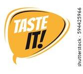 taste it retro speech balloon | Shutterstock .eps vector #594425966