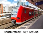 hannover main train station in... | Shutterstock . vector #594426005