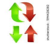 red and green arrow. vector | Shutterstock .eps vector #594428282