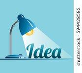 spotlight on idea. creative...   Shutterstock .eps vector #594428582