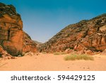 colored canyon of egypt.... | Shutterstock . vector #594429125