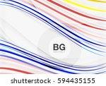 vector color stripes  wave... | Shutterstock .eps vector #594435155