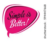 simple is better retro speech...   Shutterstock .eps vector #594447668