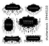 elegance vintage frames for... | Shutterstock .eps vector #59445133
