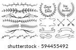 set of floral design element.... | Shutterstock .eps vector #594455492
