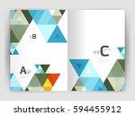print template modern elegant... | Shutterstock .eps vector #594455912