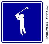 playing golf sign | Shutterstock . vector #59445667