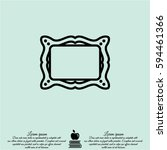 web line icon. picture frame. | Shutterstock .eps vector #594461366