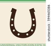 horseshoe vector icon.   Shutterstock .eps vector #594465386