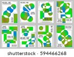 business brochure vector set | Shutterstock .eps vector #594466268