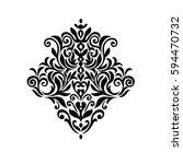 vintage baroque frame scroll...   Shutterstock .eps vector #594470732