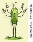 Green Beetle Smiles And Shows...