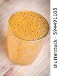 glass of freshly pressed kiwi... | Shutterstock . vector #594491105