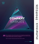 business style poster. vintage... | Shutterstock .eps vector #594493106