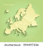 europe map separate individual... | Shutterstock .eps vector #594497336