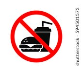 no fast food allowed symbol ... | Shutterstock .eps vector #594501572