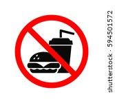 no fast food allowed symbol ... | Shutterstock .eps vector #594501572