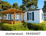 Closeup Of A Mobile Home In A...
